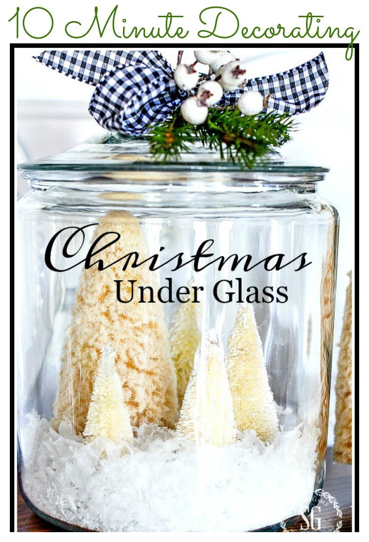 CHRISTMAS UNDER GLASS- AN EASY 10 MINUTE DECORATION