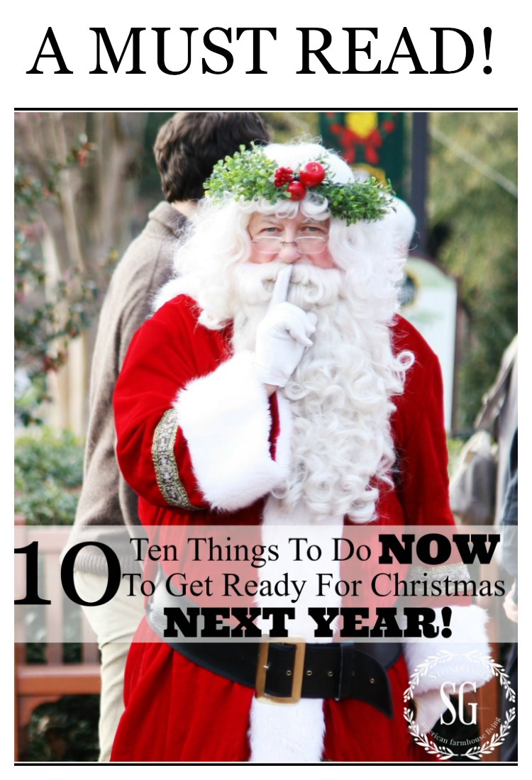 10 THINGS YOU CAN DO NOW FOR NEXT CHRISTMAS!