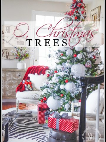 O, CHRISTMAS TREES- A look at a house full of festive Christmas trees.