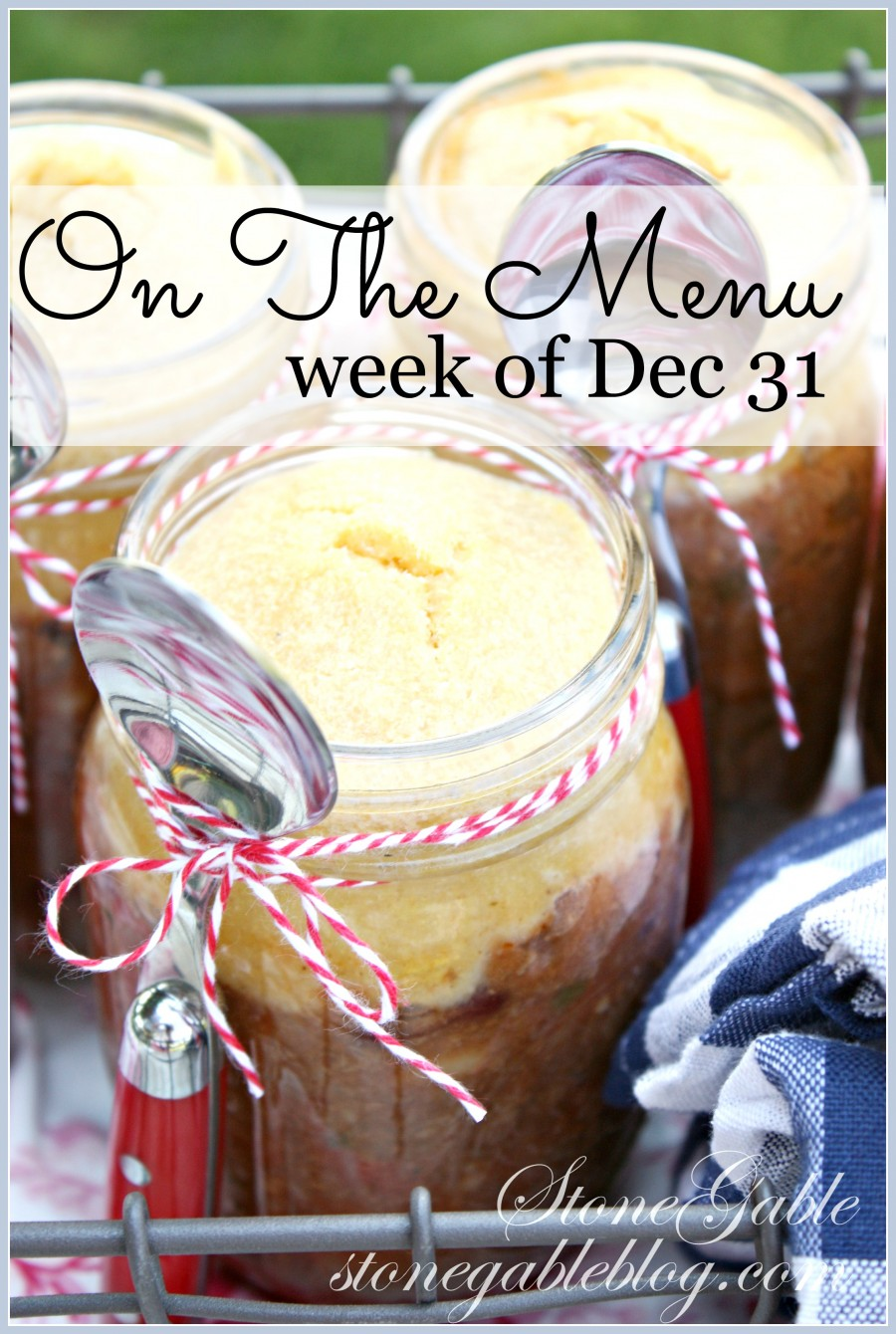 ON THE MENU- A week's worth of scrumptious recipes. I'll do the planning for you!