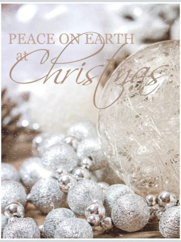 PEACE AT CHRISTMAS