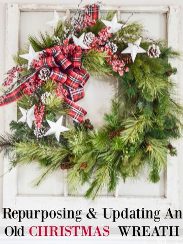 REPURPOSING AND UPDATING AN OLD CHRISTMAS WREATH... SO EASY!
