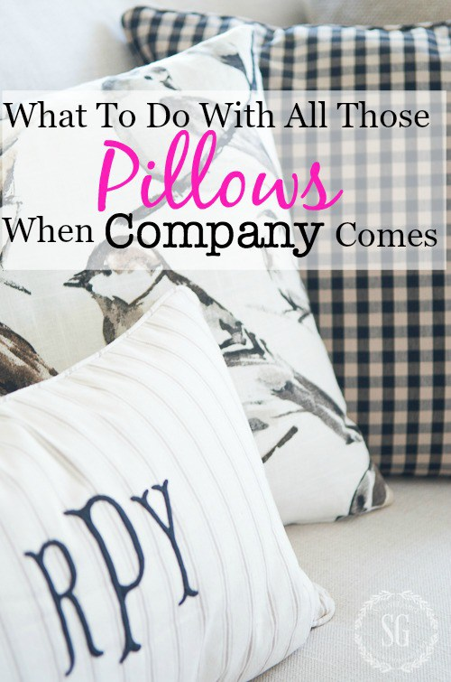 WHAT TO DO WITH ALL THOSE PILLOWS WHEN COMPANY COMES?