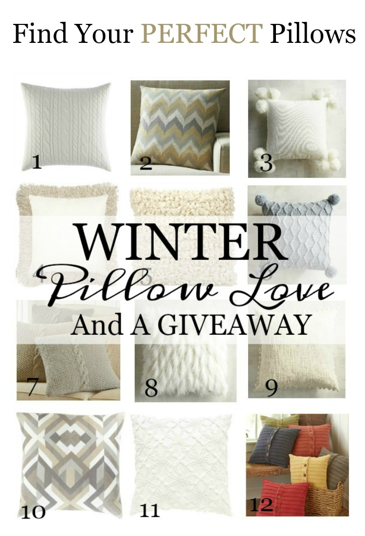 WINTER PILLOW LOVE- My best picks for gorgeous winter pillows! I've done the work for you, now you can see the best and most reasonable pillows from around the web!