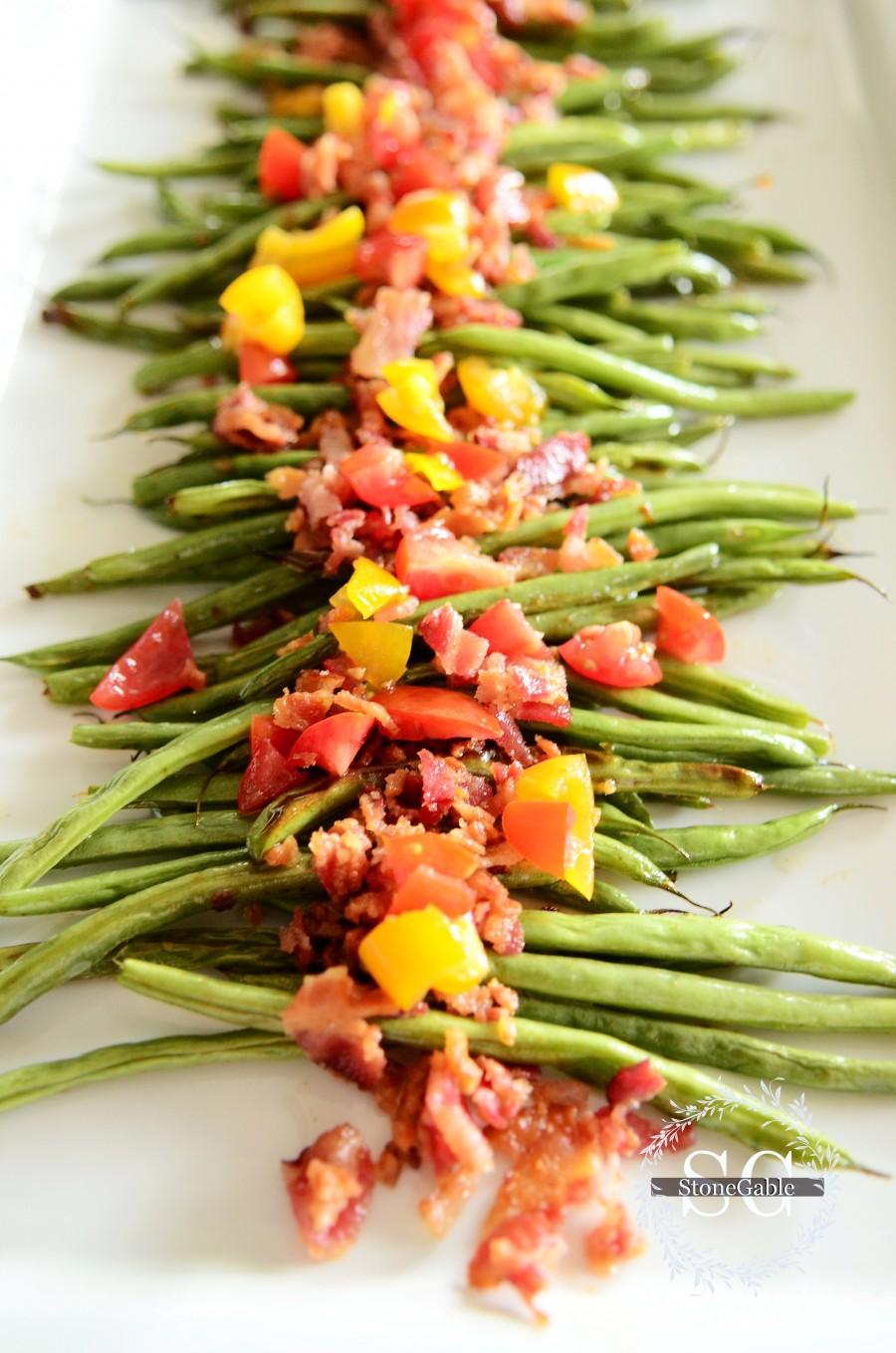 roasted-green-beans-on-a-plate-stonegableblog-com