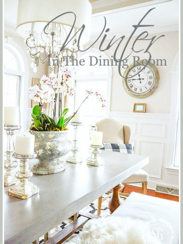 WINTER IN THE DINING ROOM... TIPS FOR A ROOM THAT SHINES!