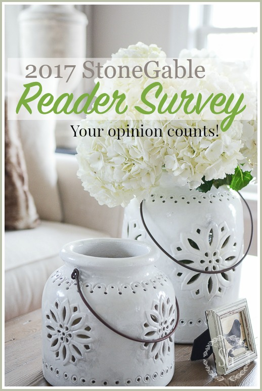 2017 STONEGABLE READERS SURVEY