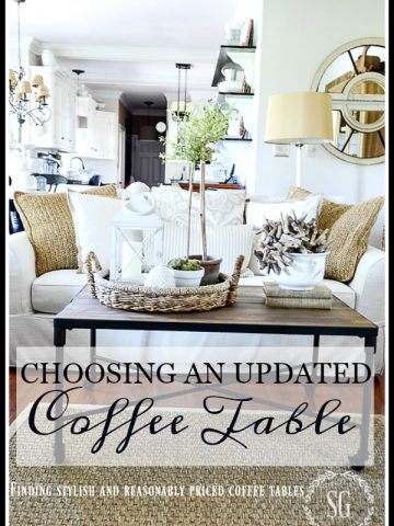 CHOOSING AN UPDATED COFFEE TABLE