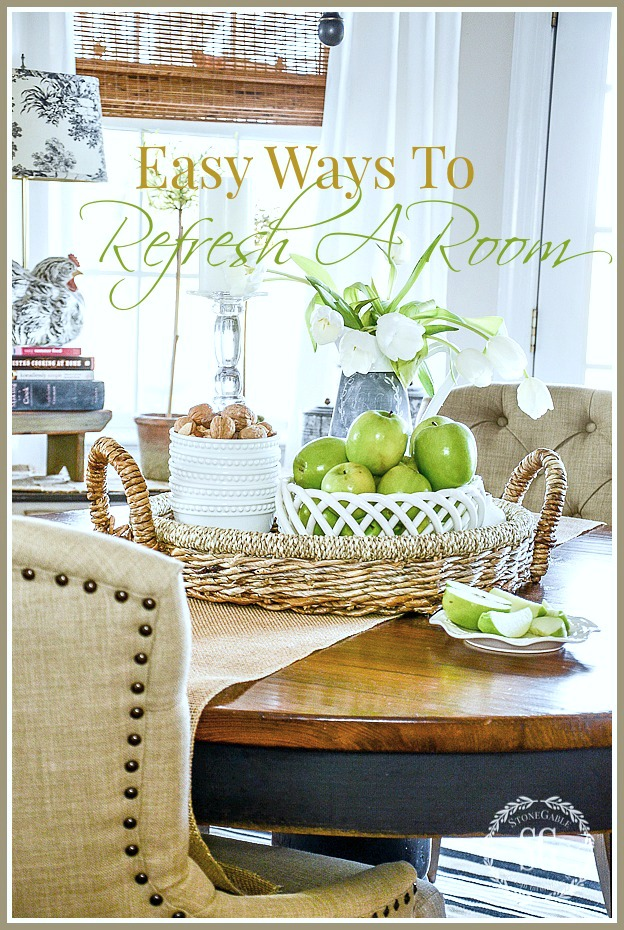 EASY WAYS TO REFRESH A ROOM-title page-stonegableblog.com