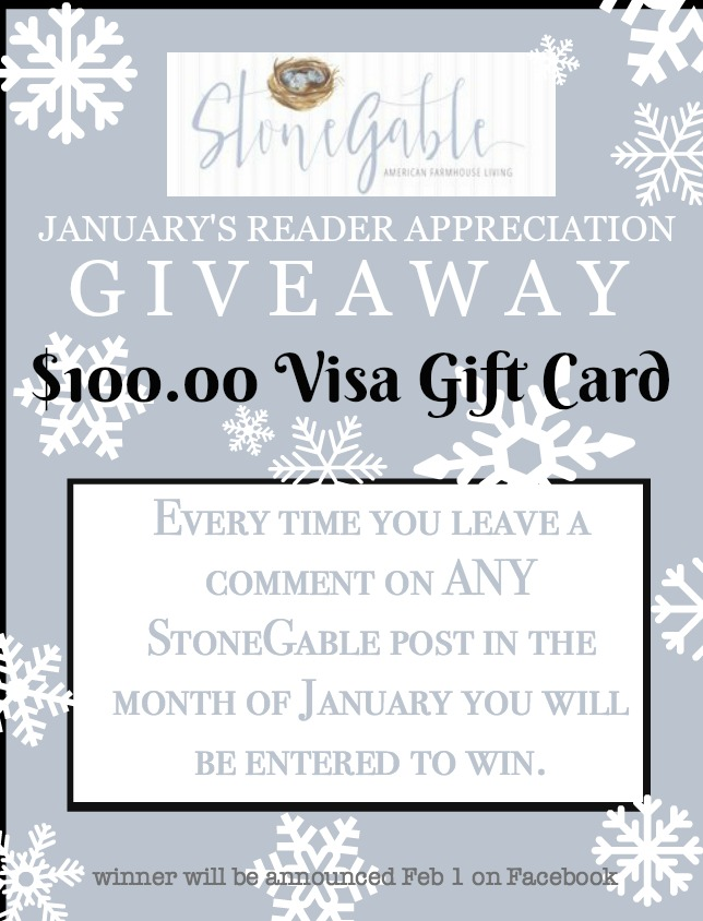 JANUARY READER APPRECIATION GIVEAWAY