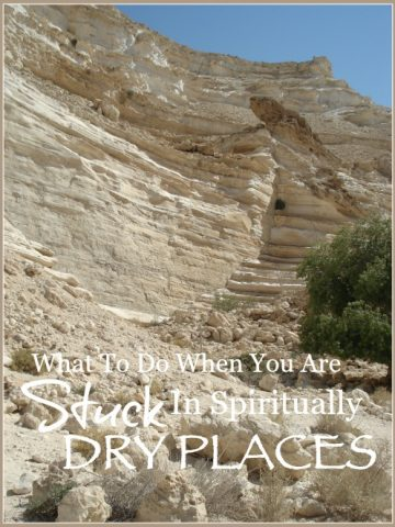 WHAT TO DO WHEN YOU ARE STUCK IN SPIRITUALLY DRY PLACES