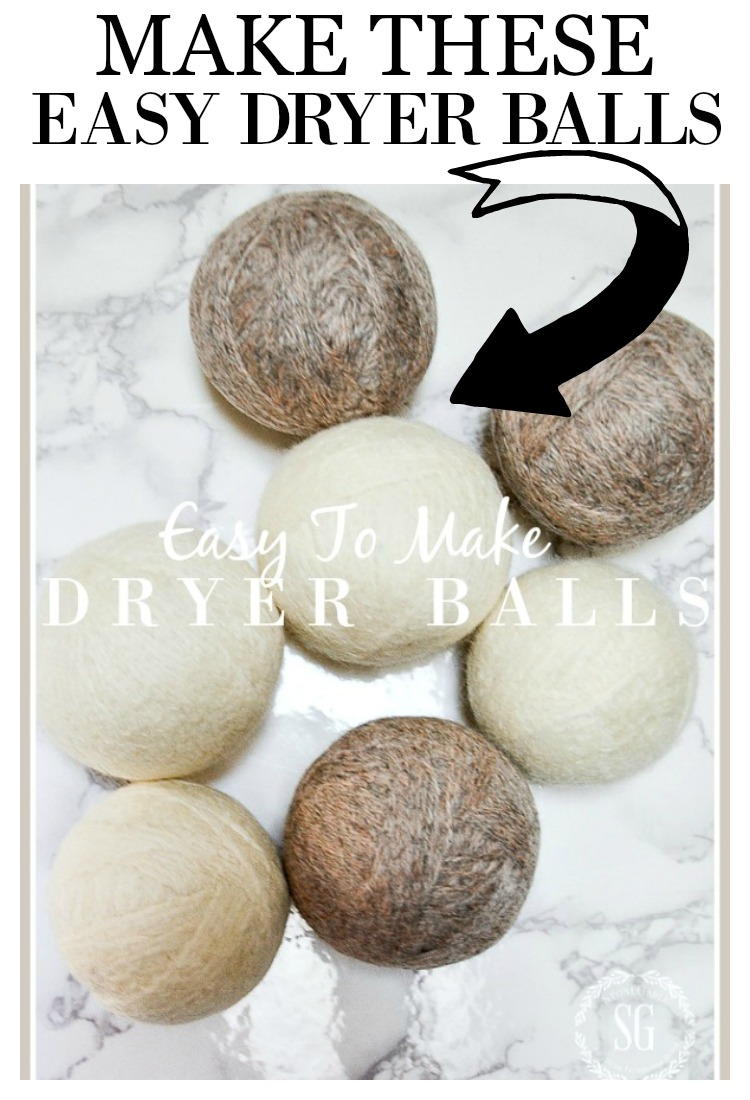 EASY TO MAKE DRYER BALLS DIY