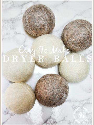 EASY TO MAKE DRYER BALLS