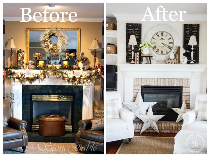 THE EVOLUTION OF A MANTEL- Finding the perfect elements that make a mantel shine!