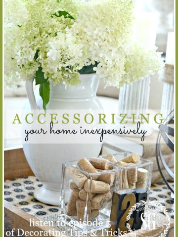 ACCESSORIZING YOUR HOME INEXPENSIVELY... AND PODCAST #5