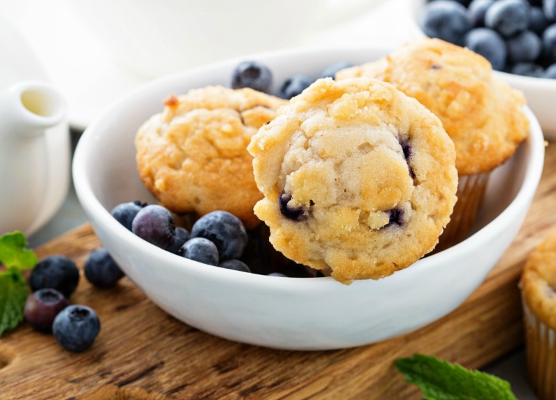 MY FAVORITE BLUEBERRY MUFFINS- So simple to make and especially delicious!