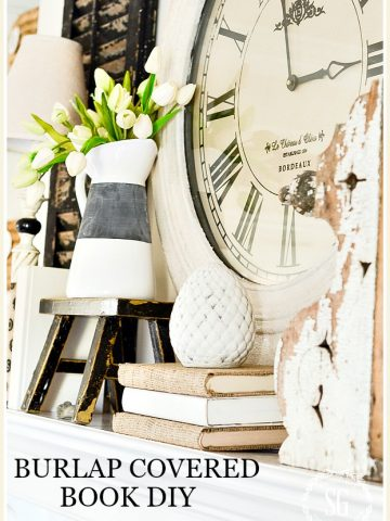 BURLAP COVERED BOOK DIY