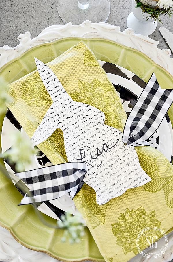 BUNNY PLACE CARD DIY- EASY TO MAKE PLACE CARDS THAT WILL CHARM YOUR GUESTS