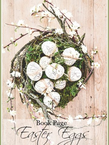 BOOK PAGE EASTER EGG DIY- Easy and practical no cost Easter Eggs with a book-lover's twist!