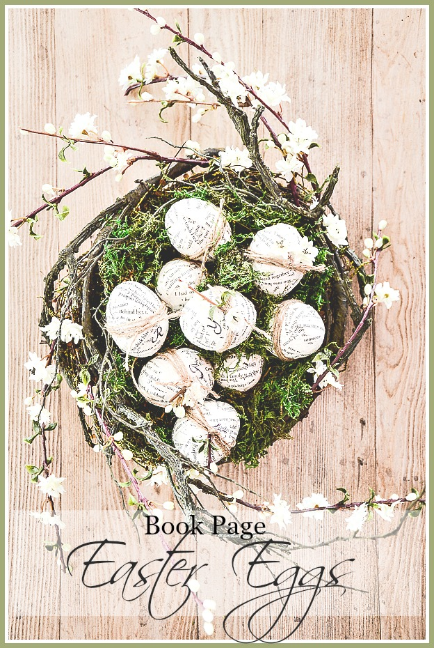 BOOK PAGE EASTER EGGS DIY - StoneGable