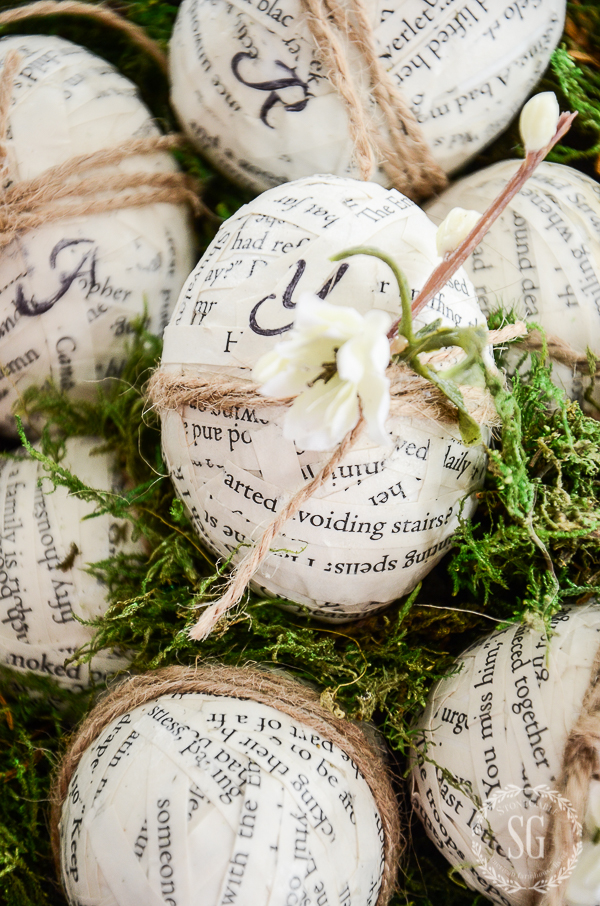 BOOK PAGE EASTER EGG DIY- Easy and practical no cost Easter Eggs with a book-lover