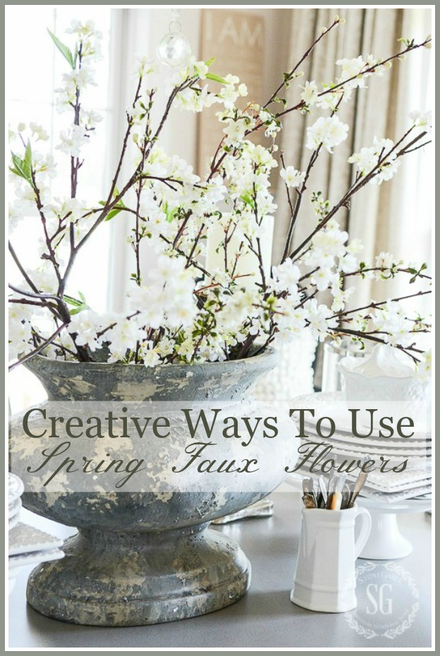 CREATIVE WAYS TO USE FAUX SPRING FLOWERS