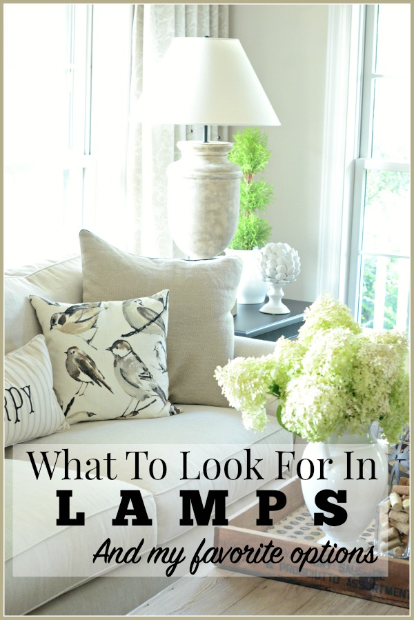 WHAT TO LOOK FOR IN LAMPS- Choosing the perfect lamp is not all about looks. Here's other thing you should consider!