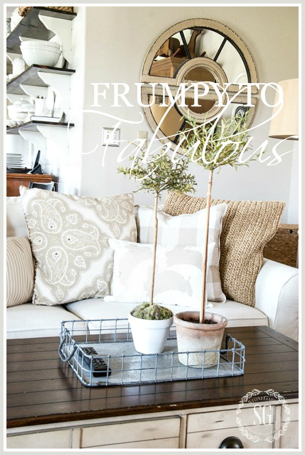 FRUMPY TO FABULOUS- How to update our decor look