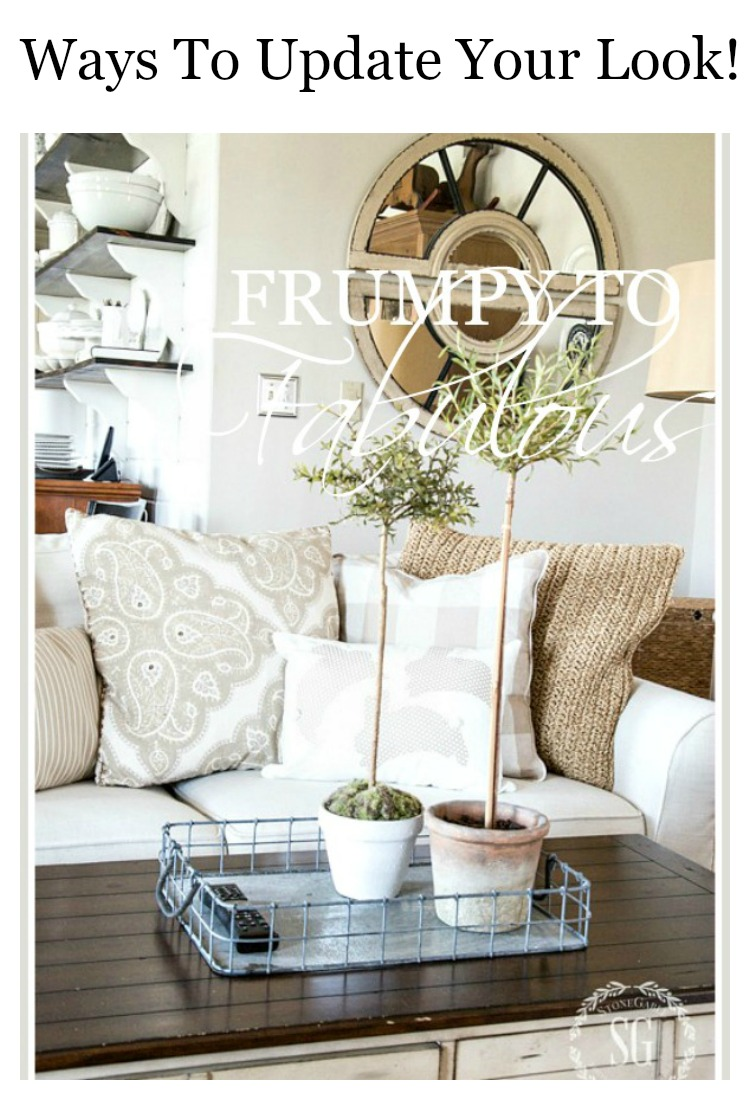 FRUMPY TO FABULOUS-How to update our decor look