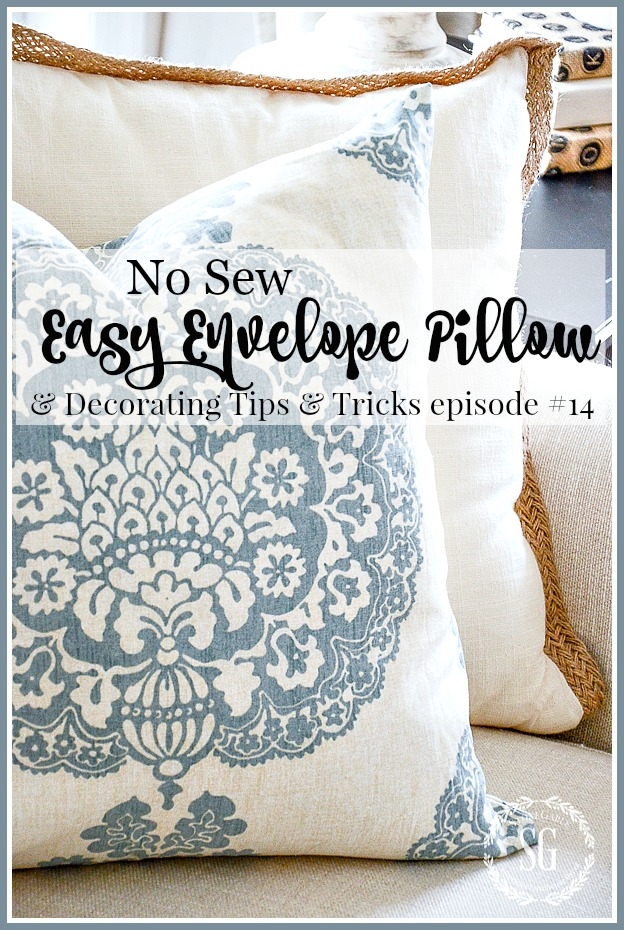 EASY NO SEW PILLOW COVER
