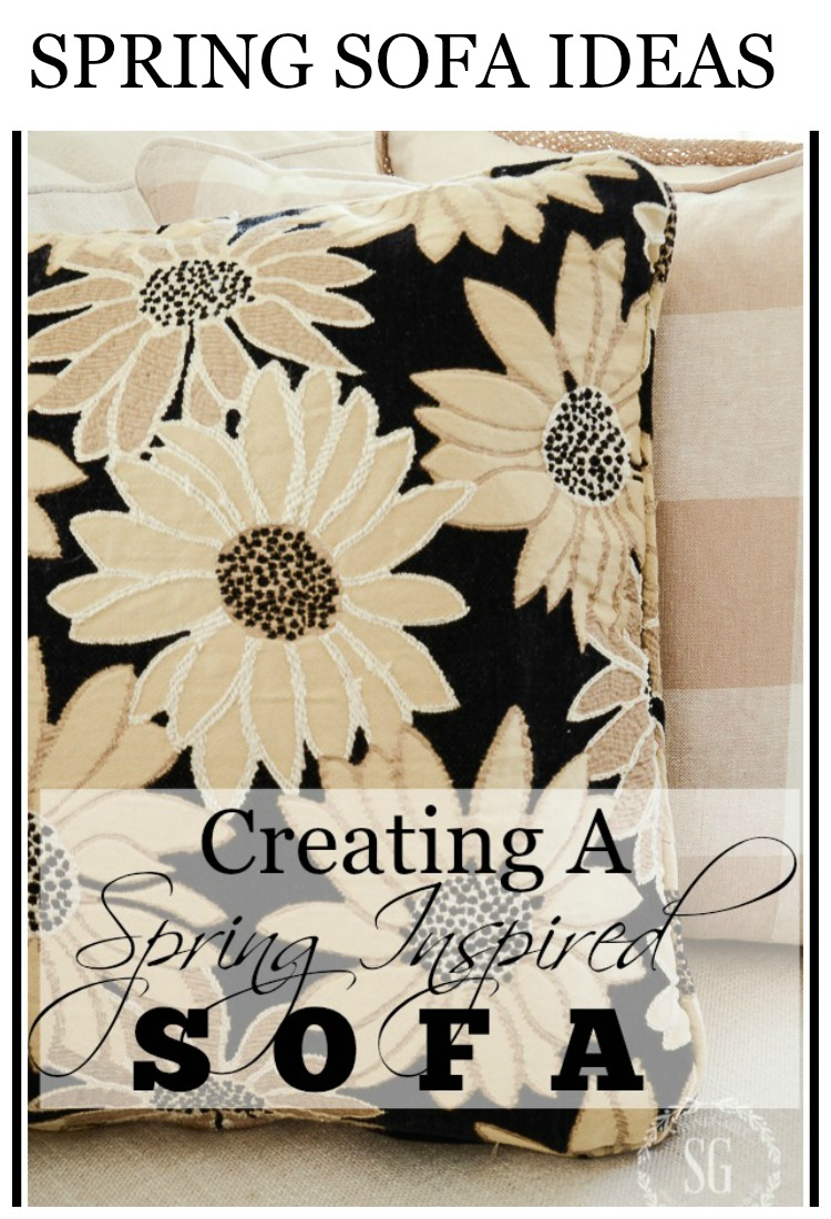SPRING INSPIRED SOFA- It's easy to breathe spring life into a room! Here's how!