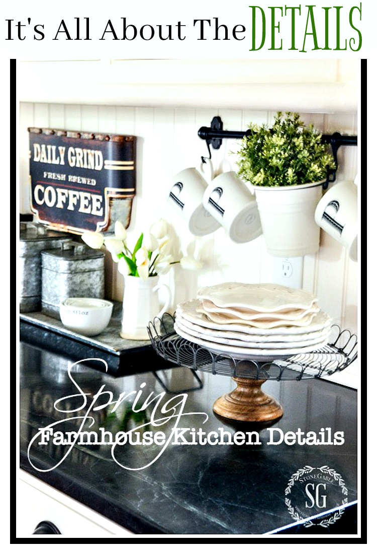 SPRING KITCHEN DETAILS- lots of ways to decorate for spring.
