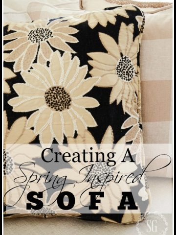 CREATE A SPRING INSPIRED SOFA