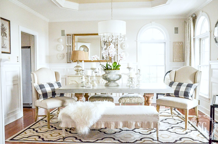 10 WAYS TO UPDATE YOUR DINING ROOM-If your dining room needs a little updating this is a must read!