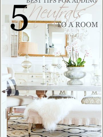 5 BEST TIPS FOR ADDING NEUTRALS TO YOUR ROOM
