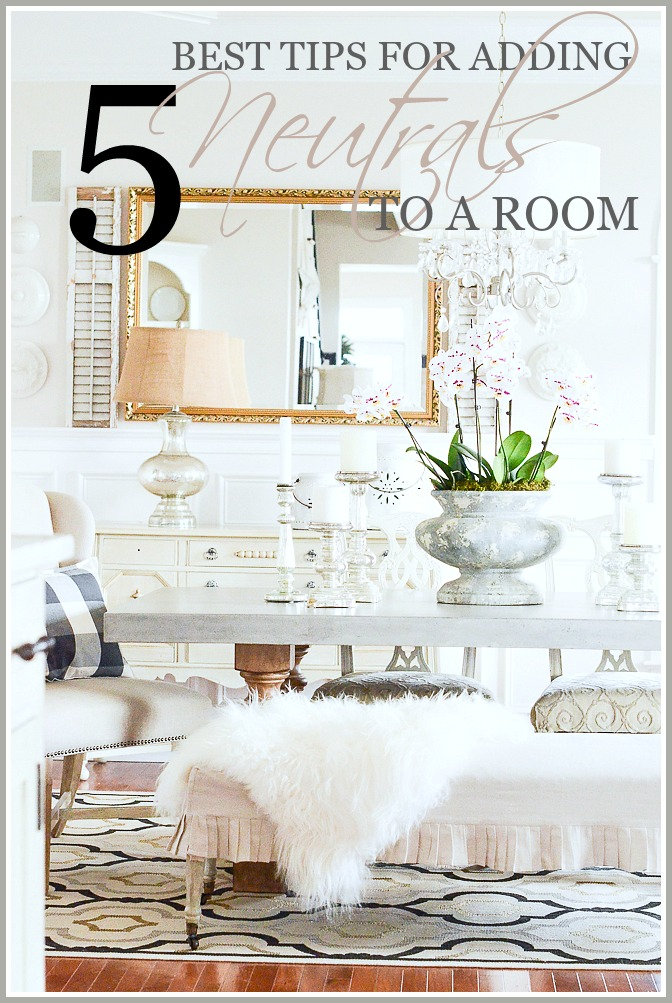 5 BEST TIPS FOR ADDING NEUTRALS TO A ROOM- These 5 tips will change your room! Seriously!
