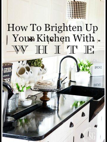BRIGHTEN UP YOUR KITCHEN WITH WHITE