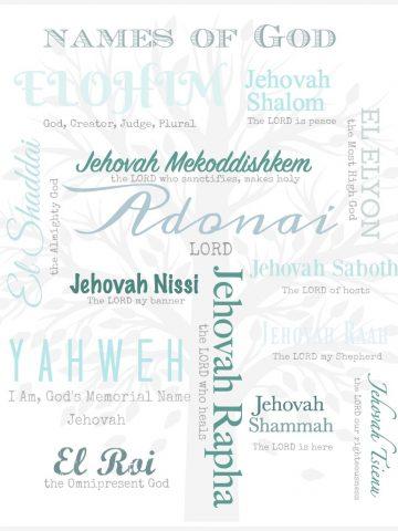 NAMES OF GOD PRINTABLE