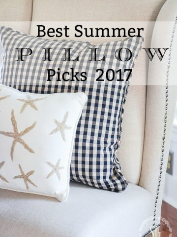 BEST SUMMER PILLOW PICKS 2017