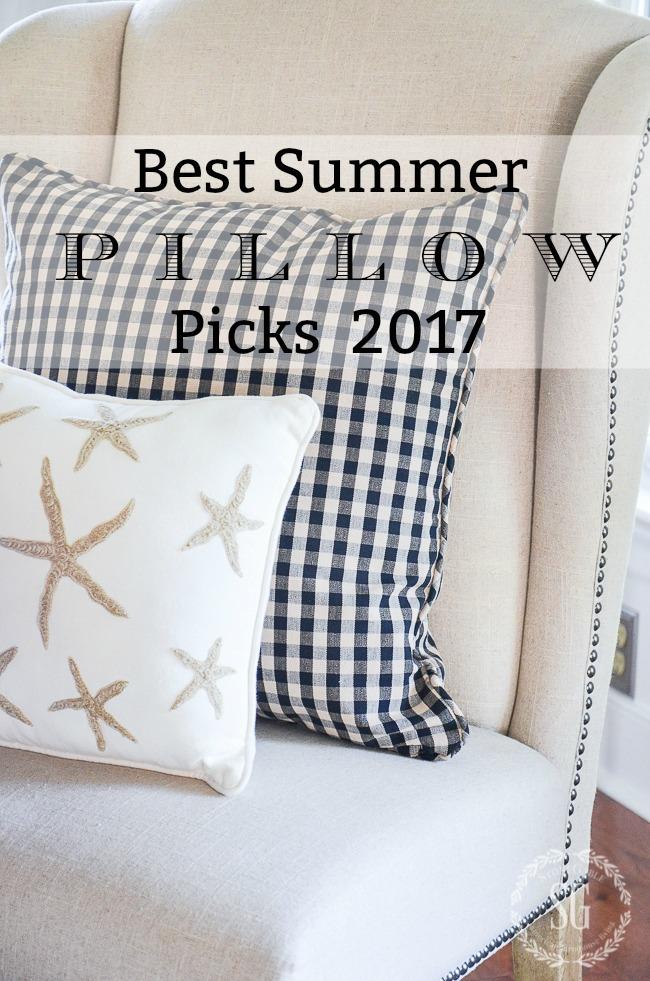 BEST SUMMER PILLOW PICKS 2017