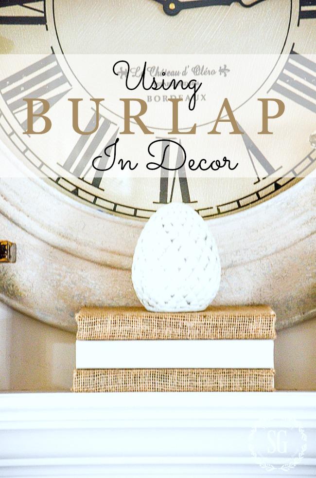 Using Burlap In Decor Stonegable, Burlap Bathroom Decor