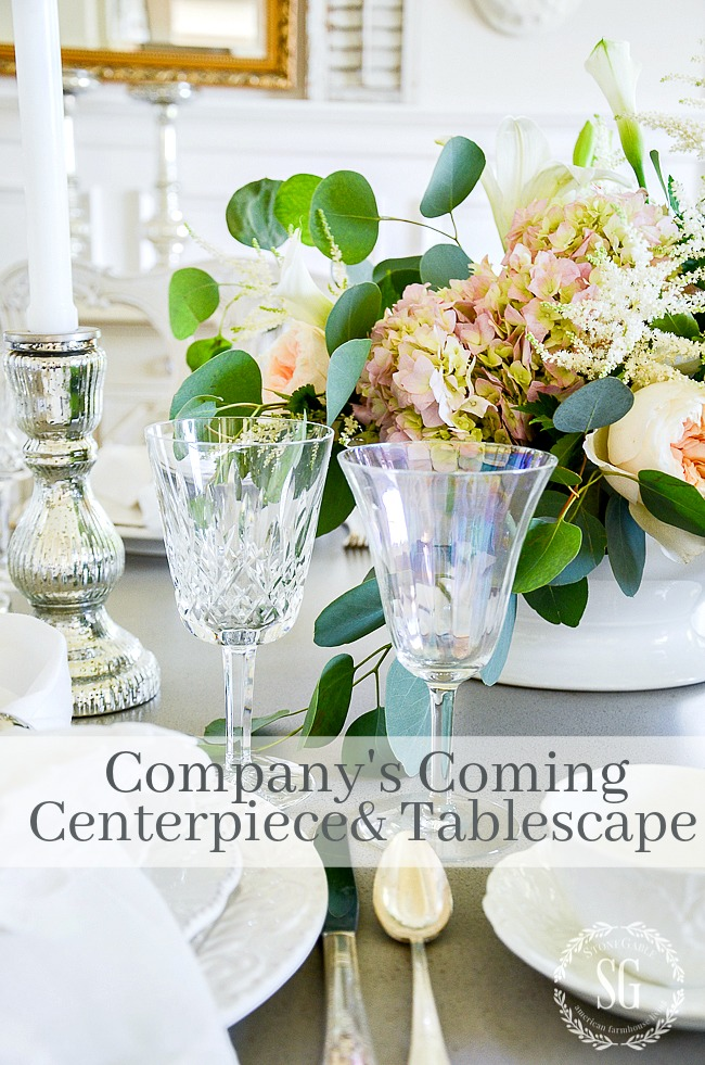 COMPANY'S COMING CENTERPIECE AND TABLESCAPE