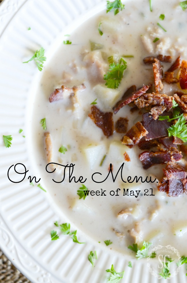 ON THE MENU WEEK OF MAY 21- A week's worth of scrumptious dinner recipes!