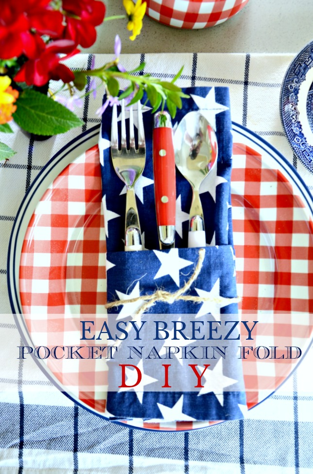 EASY BREEZY POCKET NAPKIN FOLD DIY- Create a table full of these fun napkin that hold utensils in less than 10 minutes!