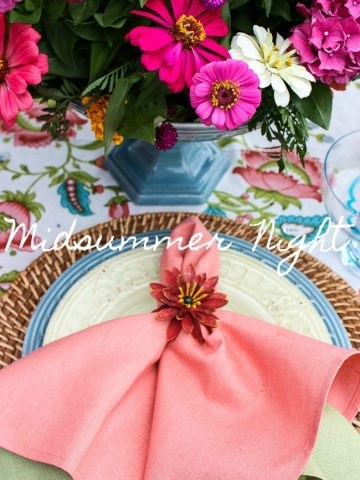 MIDSUMMER NIGHT TABLESCAPE