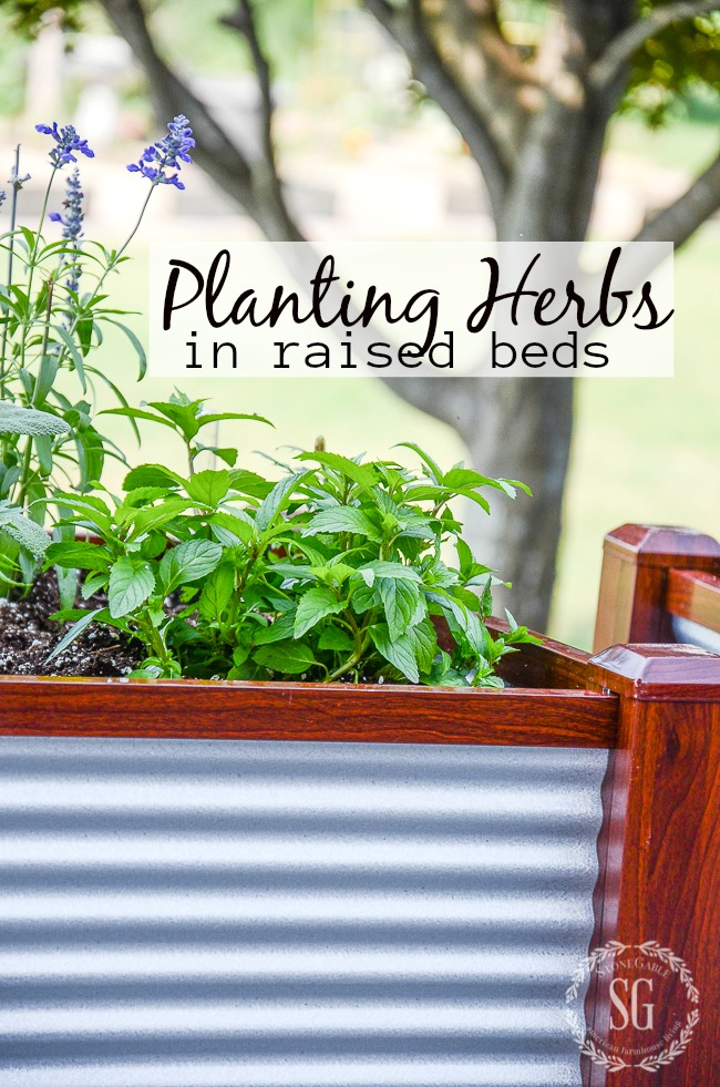 Planting Herbs In Raised Beds Stonegable, How To Start A Raised Herb Garden