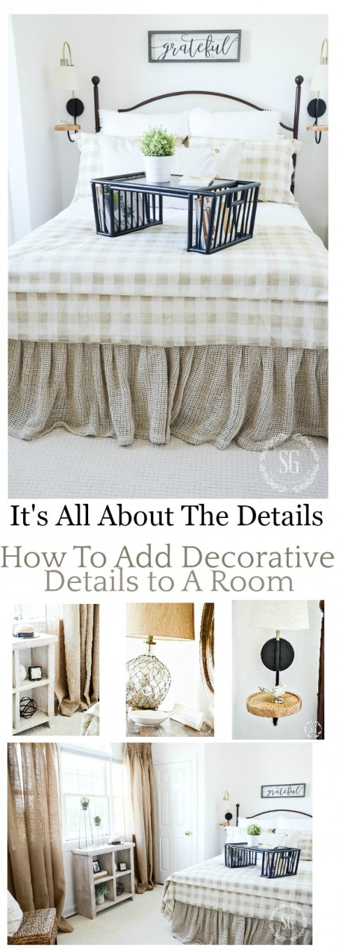 IT'S ALL ABOUT THE DETAILS when it come to fabulous decor. Here are 5 easy to do tips for talking a room from nice to gorgeous!