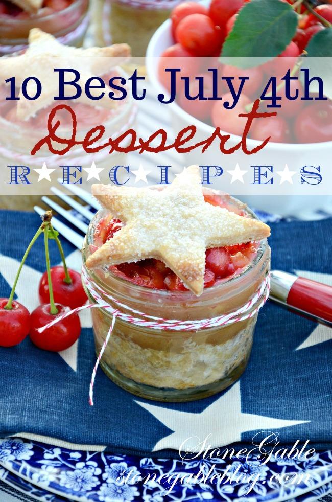 TEN BEST JULY 4TH DESSERT RECIPES