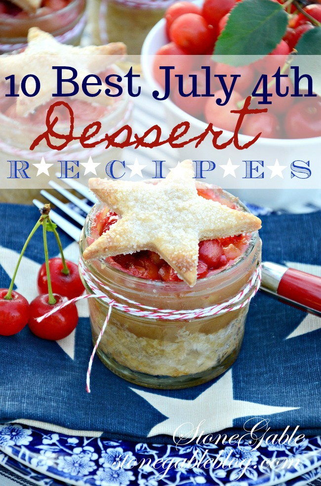 TEN BEST JULY 4TH DESSERT RECIPES