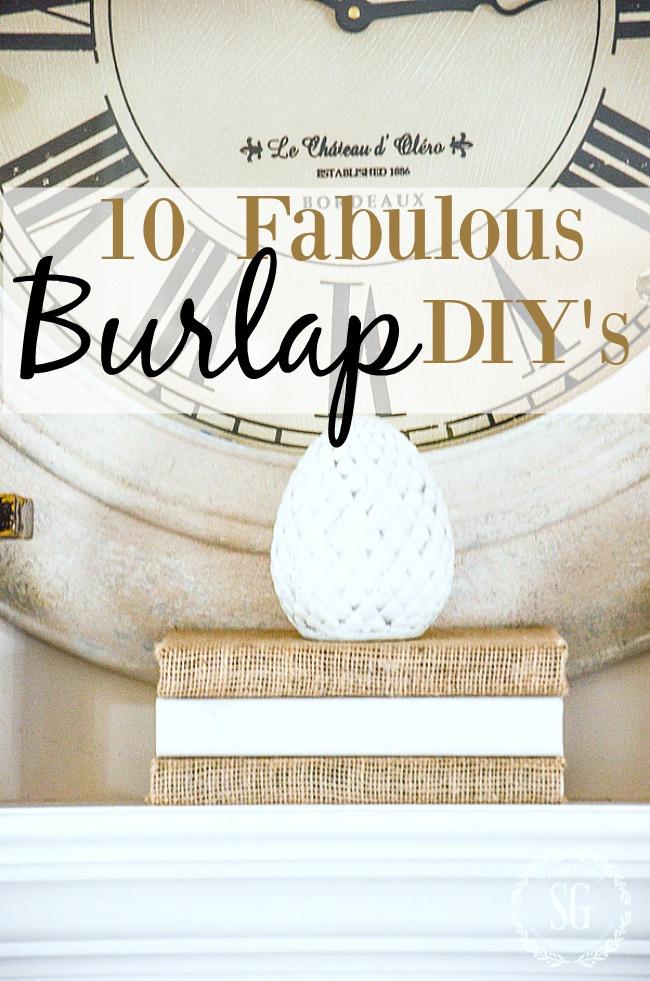 10 FABULOUS BURLAP DIY